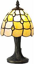 Lámpara de mesa Tiffany Breeze 1 Bombilla Beige