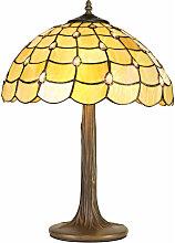 Lámpara de mesa Tiffany Breeze 2 bombillas beige
