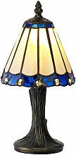Lámpara de mesa Tiffany Calais 1 Bombilla Azul 16