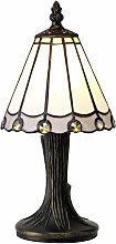 Lámpara de mesa Tiffany Calais 1 Bombilla Blanco