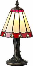 Lámpara de mesa Tiffany Calais 1 Bombilla Roja /