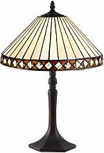 Lámpara de mesa Tiffany Carole 1 bombilla ámbar