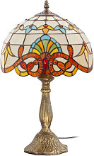 Lámpara de mesa Tiffany - Cristal Multicolores