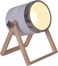 Lámpara de mesa Tim blanco-plata
