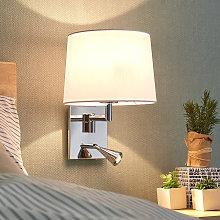 Lámpara de pared Bent con lámpara de lectura