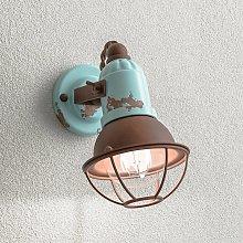 Lámpara de pared C1675/1 cesta, 1 foco, turquesa