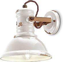 Lámpara de pared cerámica C1693 industrial blanco