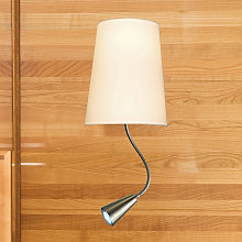Lámpara de pared Chino con lámpara de lectura