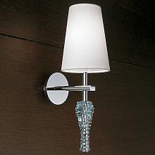 Lámpara de pared Crystal decorativa blanca