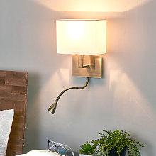 Lámpara de pared DARIO con luz de lectura LED