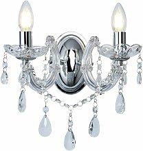 Lámpara de pared de cristal de cristal Lámpara