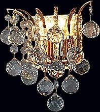 Lámpara de pared de cristal dorada LENNARDA