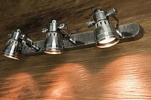 Lámpara de pared de diseño industrial triple