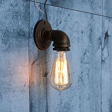 Lámpara de pared de metal vintage Lámpara