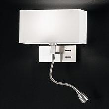 Lámpara de pared Emilian con luz de lectura LED