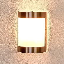 Lámpara de pared exterior Kinga de acero inox