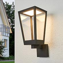 Lámpara de pared exterior LED Chaja forma farola