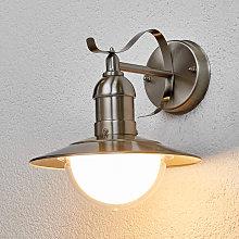 Lámpara de pared exterior LED Clea de acero inox