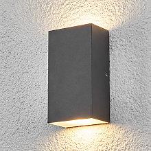 Lámpara de pared exterior LED cuadrada Weerd