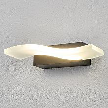 Lámpara de pared exterior LED ondulada Jirka