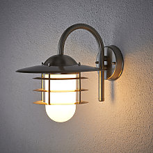 Lámpara de pared exterior Mian de acero inoxidable