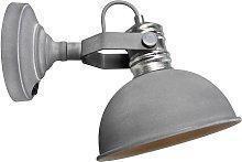 Lámpara de pared Frieda gris hormigón industrial