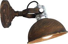 Lámpara de pared Frieda marrón oxidado