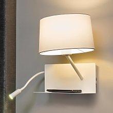 Lámpara de pared Handy con brazo de lectura LED