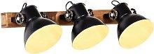 Lámpara de pared industrial negro 65x25 cm E27 -
