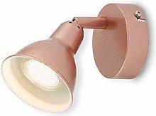 Lámpara de pared LED Briloner, foco giratorio y