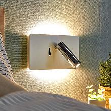 Lámpara de pared LED Elske con lámpara de lectura