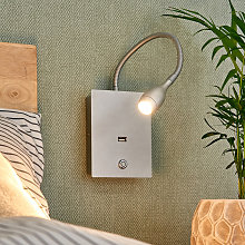 Lámpara de pared LED Marbod flexible con atenuador