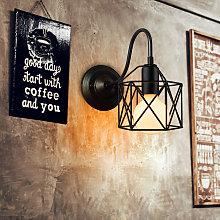 Lámpara de Pared Moderno de Jaula de Hierro Cubo