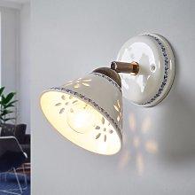 Lámpara de pared NONNA de cerámica blanca