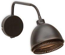 Lámpara de pared Skirt negra, diseño industrial