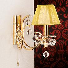 Lámpara de pared textil Diseño de cristal