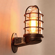 Lámpara de pared vintage industrial Jaula única