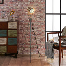 Lámpara de pie de 3 patas Ebbi estilo industrial