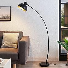Lámpara de pie de arco Phileas en negro y dorado