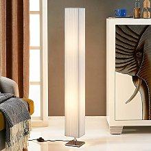 Lámpara de pie de tela Janno, blanco