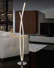 Lámpara de pie dimable cromo LINUR LED