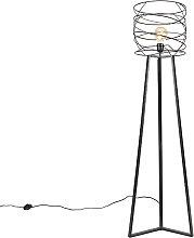 Lámpara de pie diseño negra - SPIRA