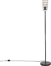 Lámpara de pie industrial aspecto hormigón/negro