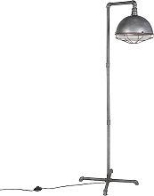 Lámpara de pie industrial plata antigua - COURSE