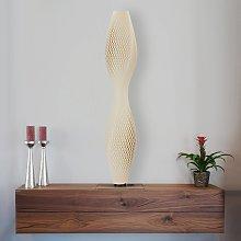 Lámpara de pie LED Flechtwerk Lava, 75cm, beige