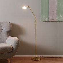 Lámpara de pie LED Twin 1 bombilla, latón