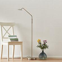 Lámpara de pie LED Twin 1 bombilla, níquel