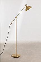 Lámpara de Pie Metalizada Francis Dorado Sklum