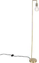 Lámpara de pie moderna de latón - FACIL