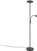Lámpara de pie moderna negra flexo LED - CHALA